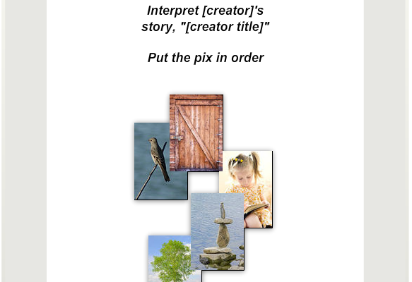 StoryPix app - Interpret path - order images